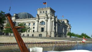 Reichstag Berlin from river Spree